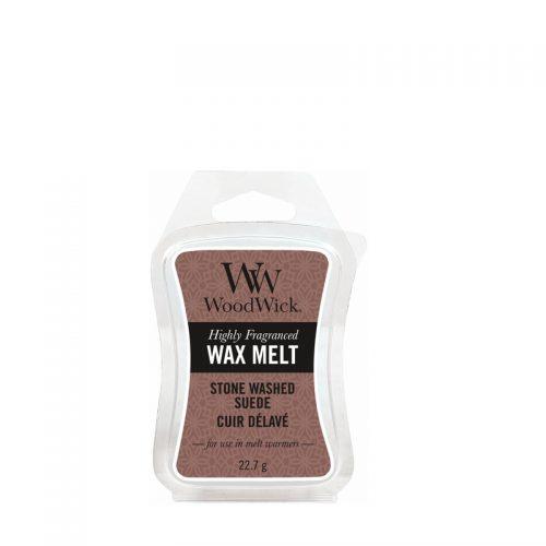 Woodwick Stone Washed Suede Mini Wax Melt