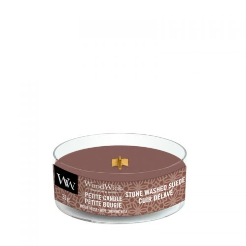 WoodWick Stone Washed Suede Petite Candle
