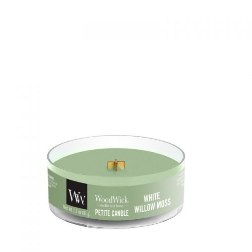WoodWick White Willow Moss Petite Candle