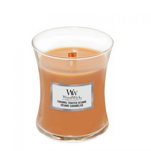 Woodwick Caramel Toasted Sesame Medium Candle