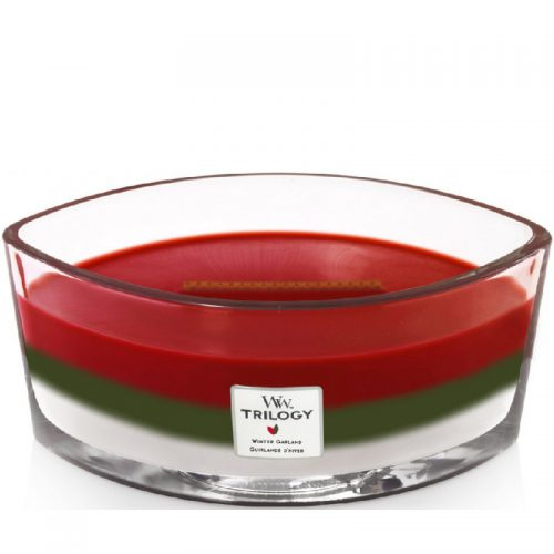 Woodwick Winter Garland Trilogy Heartwick Flame Ellipse Geurkaars