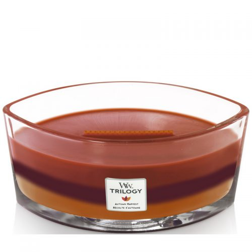Woodwick Autumn Harvest Trilogy Heartwick Flame Ellipse Geurkaars