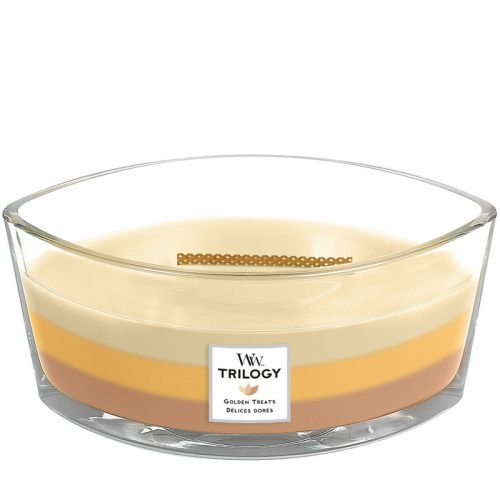 Woodwick Golden Treats Trilogy Heartwick Flame Ellipse Geurkaars