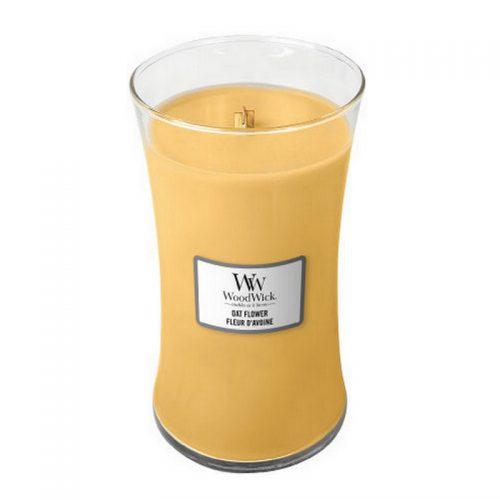 Woodwick Oat Flower Large Candle Geurkaars