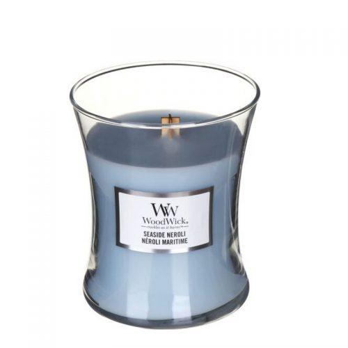 Woodwick Seaside Neroli Medium Candle Geurkaars