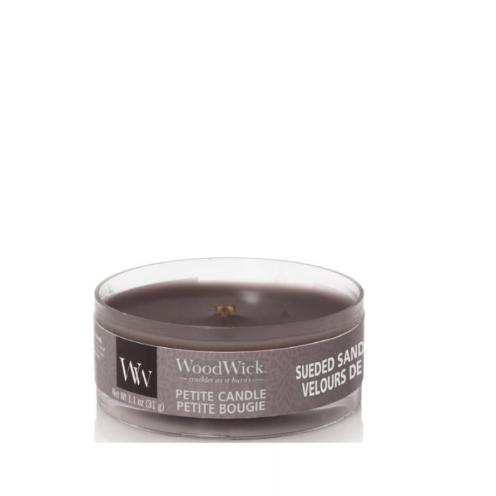 WoodWick Sueded Sandalwood Petite Candle