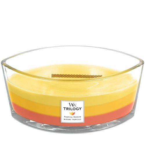 Woodwick Tropical Sunrise Trilogy Heartwick Flame Ellipse Geurkaars