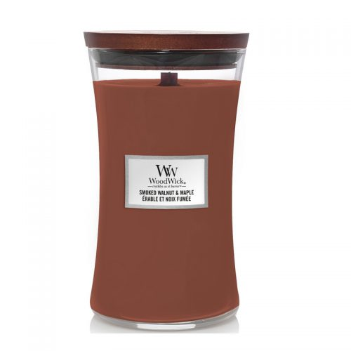 Woodwick Smoked Walnut & Maple Large Candle Geurkaars