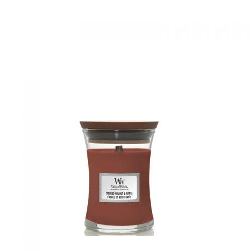 Woodwick Smoked Walnut & Maple Mini Candle Geurkaars